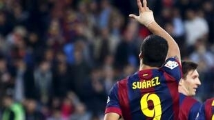 Luis Suarez scored a hat trick against Cordoba in Barcelona's 8-0 win