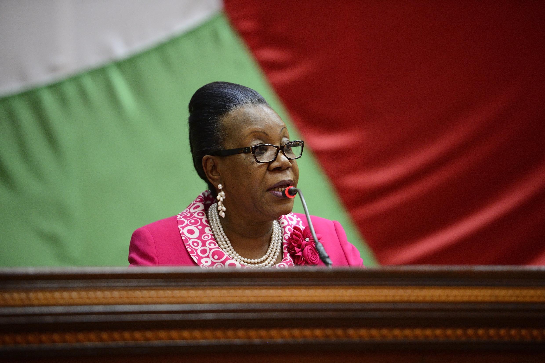 La présidente de transition de la République centrafricaine, Catherine Samba-Panza.