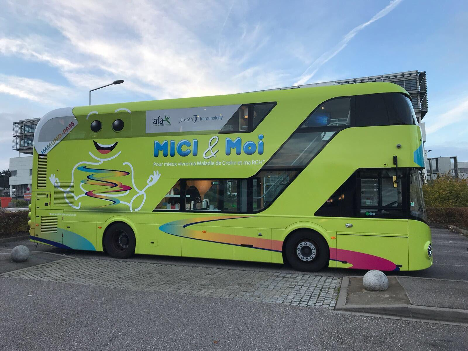 Le bus MICI&Moi reprend la route. Face à son succès en 2017, l'opération d'information et de sensibilisation sur la maladie de Crohn sera reconduite en 2018.