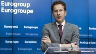 Le président de l'Eurogroupe, le Néerlandais Jeroen Dijsselbloem