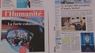 Primeiras páginas  diários franceses  01 07 2020