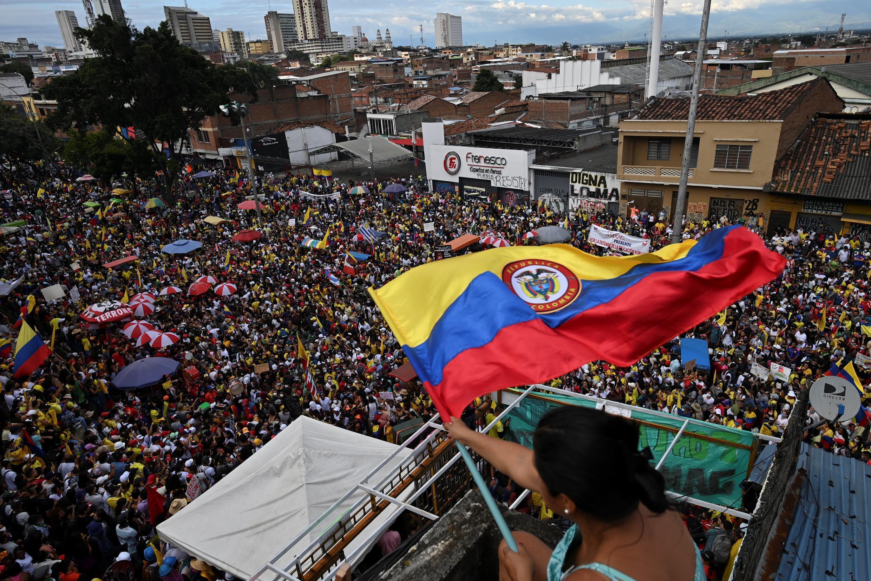 Une manifestation dans la ville colombienne de Cali, le 19 mai 2021.