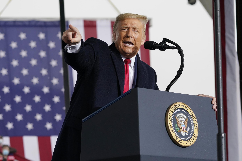 Donald Trump lors d'un meeting à Allentown en Pennsylvanie le 26 octobre 2020.