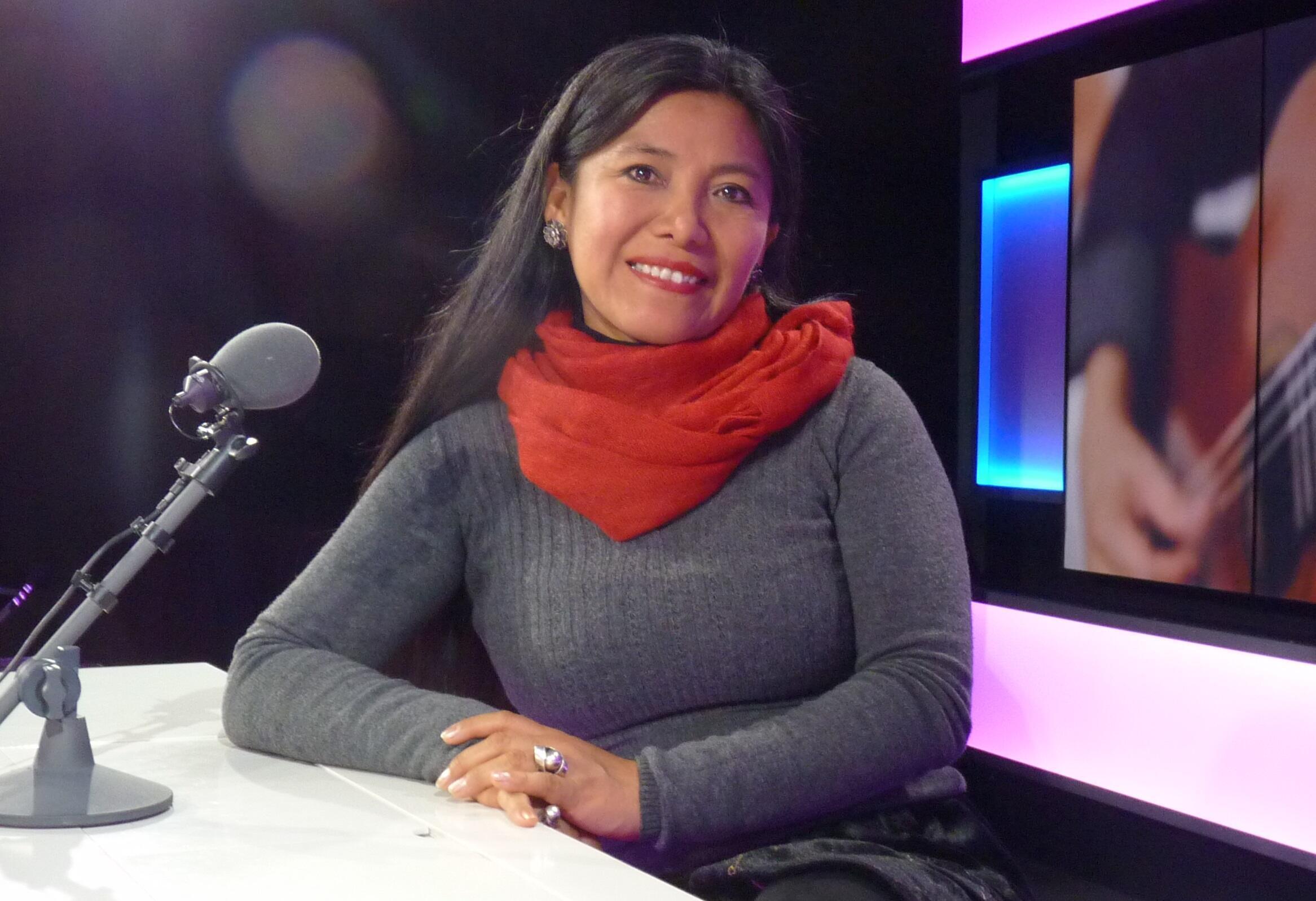 Consuelo Jerí en los estudios de RFI