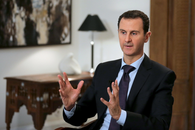 Le président syrien Bachar el-Assad lors d'une interview, le 11 février 2016.