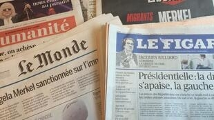 Primeiras páginas dos diários franceses 5/09/2016