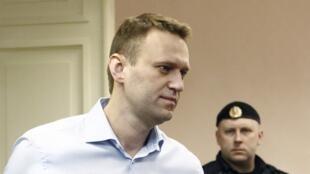 Nhà đối lập Nga Alexeï Navalny tới phiên tòa, 24/04/2013.