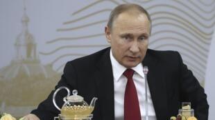 Tổng thống Nga Putin tại Diễn Đàn Kinh Tế Quốc Tế Saint-Peterburg, ngày 02/06/2017. Ảnh minh họa.