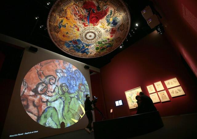 Фильм, созданный в Институте культуры Google на основе изображения высокой четкости плафона Гранд-Опера в Париже