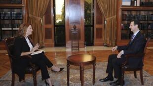 Bashar al-Assad concedeu entrevista à TV Rai News 24 neste domingo, 29 de setembro de 2013.
