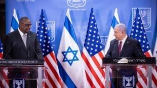 نخست وزیر اسرائیل و وزیر دفدع آمریکا.
