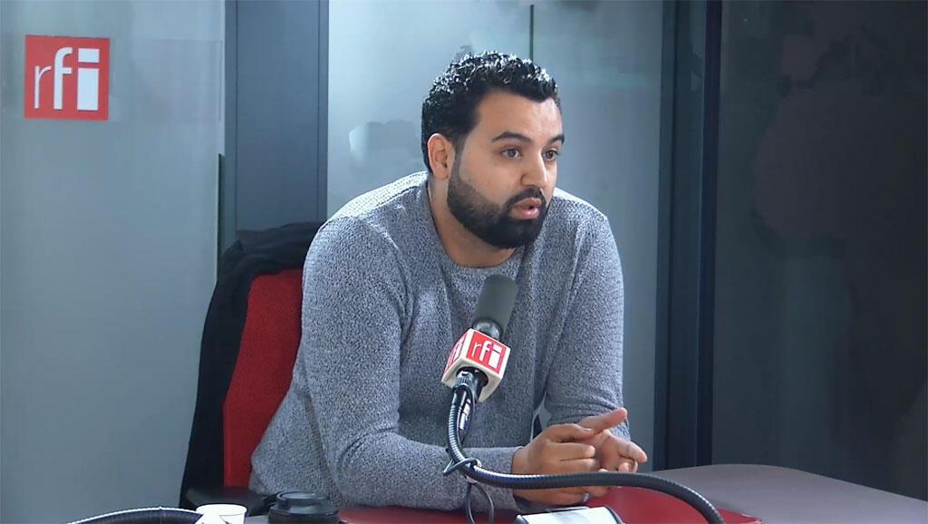 L'humoriste Yassine Belattar sur RFI, le 22/10/2019.