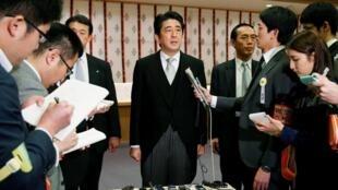 安倍晋三在靖国神社2013年12月26日东京,