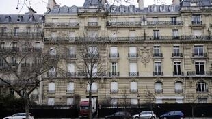 The Paris mansion raided by police last week