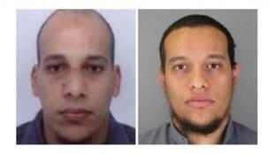 Os dois irmãos terroristas jihadistas autores do atentado contra Charlie Hebdon que foram mortos numa operação especial da polícia francesa esta tarde de 10 de janeiro.