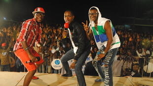 le groupe togolais Toofan (Masta Just & Barabas) avec Claudy Siar