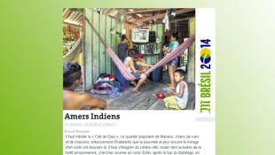 Reportagem do jornal Le Monde desta quinta-feira sobre a pobreza dos indios em Manaus.