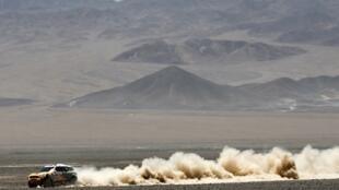 El argentino Orlando Terranova durante la octava etapa del Rally Dakar, en Chile, este 13 de enero de 2014.