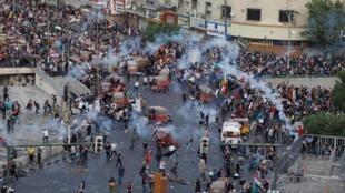 Manifestation contre la corruption, le manque d'emplois et la médiocrité des services à Bagdad, en Irak, le 27 octobre 2019.