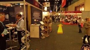 Une vue des stands du Salon du tourisme de Durban en Afrique du Sud, en mai 2011.