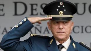 L'ancien ministre mexicain de la défense, Salvador Cienfuegos, à Mexico, en septembre 2016. Rebecca Blackwell