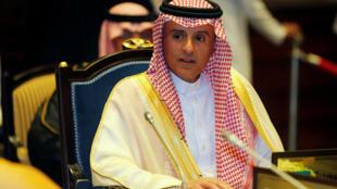 عادل جبیر وزیر امور خارجه عربستان در اجلاس منامه – پایتخت بحرین