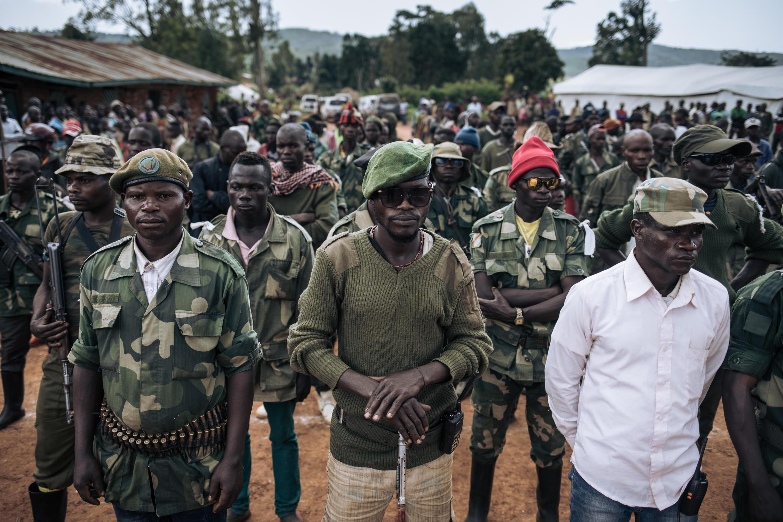 Milicianos en Ituri, en el noreste de la República Democrática del Congo, el 19 de septiembre de 2020