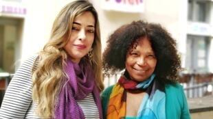 A psicóloga Vanessa Gusmão e Rosa Mendes, fundadora da Casa Internacional das Mulheres em Roma
