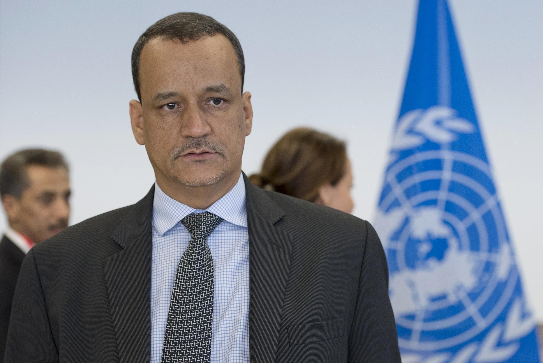 اسماعیل عود شیخ احمد، میانجی سازمان ملل متحد برای یمن. سویس ١۵ دسامبر ٢٠١۵