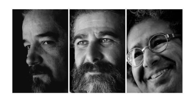 بکتاش آبتین، کیوان باژن و رضا خندان (مهابادی) سه عضو کانون نویسندگان ایران که به خاطر مخالفت با سانسور به بیش از پانزده سال زندان محکوم شده اند.