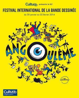 Cartaz do Festival de Angoulême, que acontece até o dia 2 de fevereiro