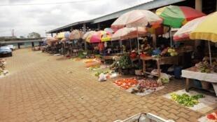 Au Gabon, sur le marché de Ntoum dans la province de l'Estuaire, on y trouve tous les ingrédients pour les préparations culinaires.