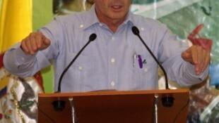 El presidente colombiano durante un acto en Barranquilla, el 26 de febrero.