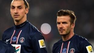 Zlatan Ibrahimovic da David Beckham a tawagar PSG