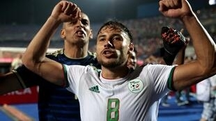 Youcef Belaïli, seul buteur du match Botswana-Algérie (0-1).
