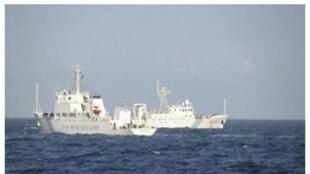 Selon Hanoï, le bateau d'exploration pétrolière Binh Minh 02 a été harcelé par 3 bâtiments chinois.