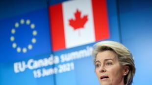 欧盟委员会主席冯德莱恩资料图片