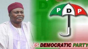 Gwamnan Taraba Darius Ishaku na PDP wanda hukumar zabe ta bayyana a matsayin wanda ya lashe zaben Jihar