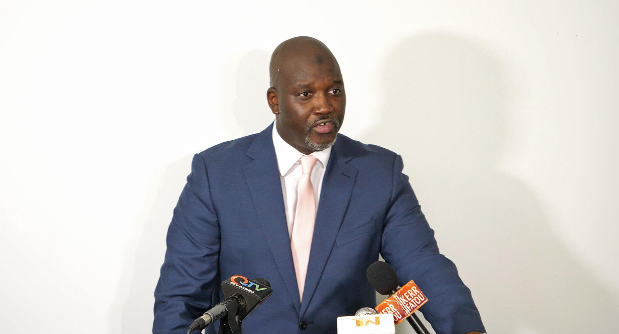 Justice minister and Attorney-General of The Gambia, Abubacarr Tambadou, in the capital Banjul.