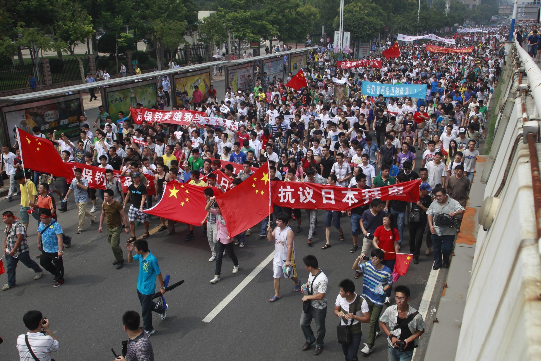 Biểu tình chống Nhật tại Sơn Đông ngày 19/08/2012.