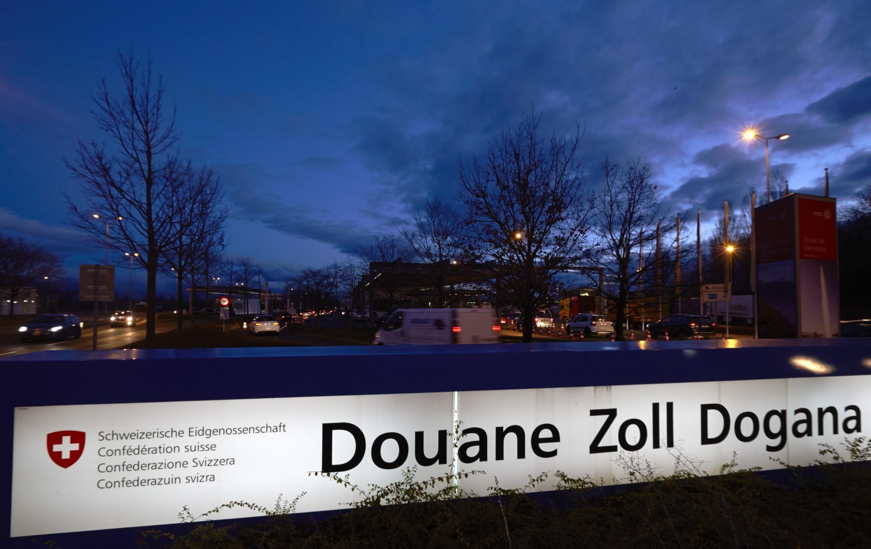 Un poste-frontière suisse à Bardonnex, près de Genève.