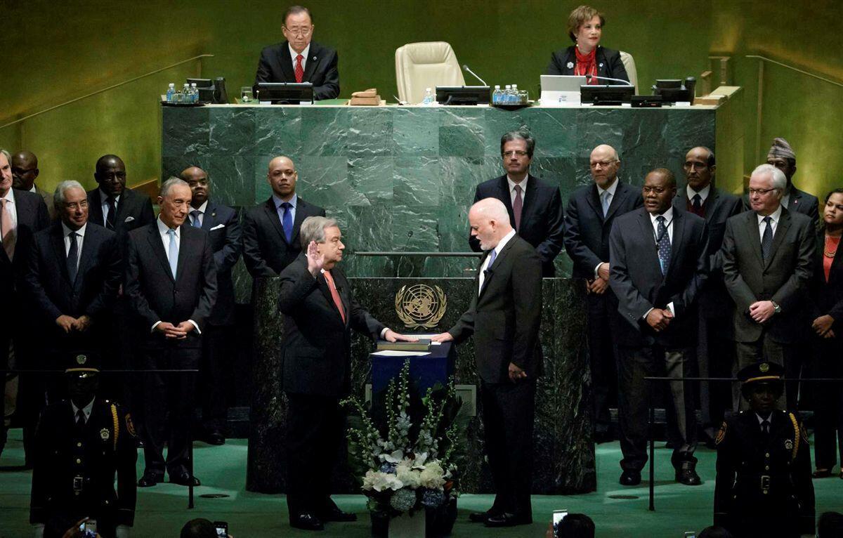 António Guterres prestou juramento à Carta das Nações Unidas