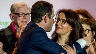 Benoît Hamon et Cécile Duflot, le 29 mars 2017.