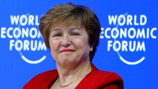 La Bulgare Kristalina Georgieva au Forum économique mondial de Davos en janvier 2019.