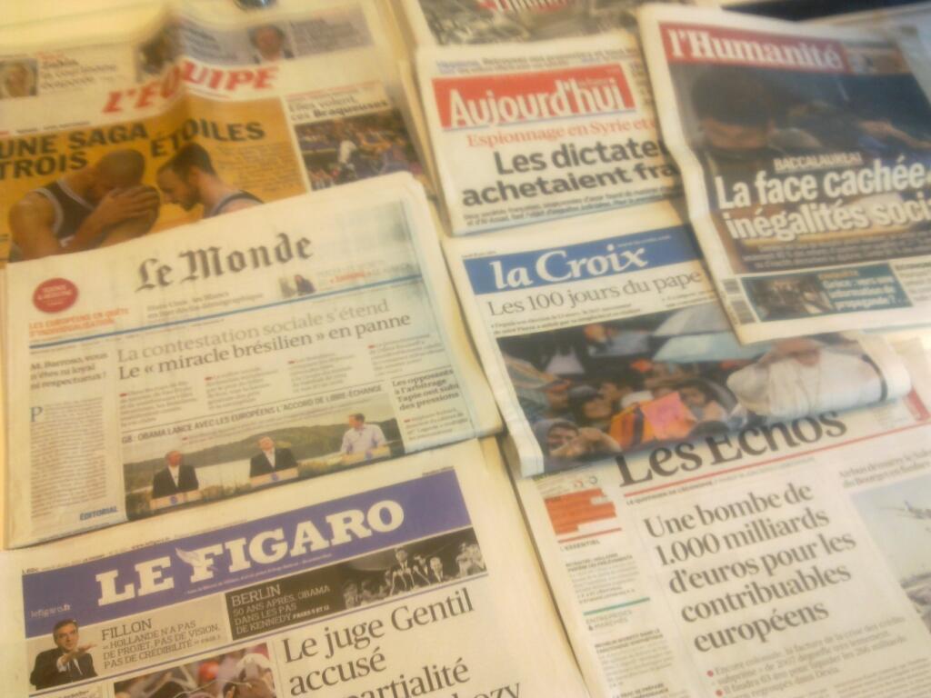 Diários franceses  18/06/2013