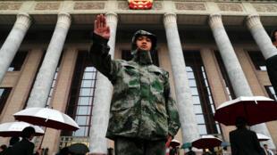 Ảnh minh họa : Cảnh an ninh nghiêm ngặt ở Bắc Kinh, ngày 18/10/2017,