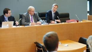 El presidente del Parlamento Valon, Paul Magnette, en conferencia el 21 de octubre 2016.