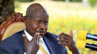 Ugandan President Yoweri Museveni, in his country residence of Rwakitura, in west Uganda, February 21 2016.