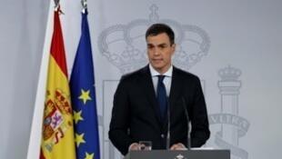 西班牙首相桑切斯宣布组成新政府。2018-06-06