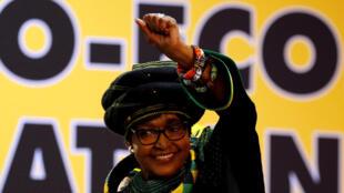 Winnie Mandela em dezembro de 2017, durante a 54ª Conferência Nacional do ANC em Joanesburgo.